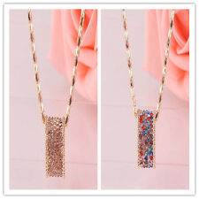 Free shipping In 2colors Hot Women Gold plated Austrian Crystal Pendant Necklace