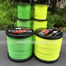 Dyneema Spectra PE Fluorescent Yellow/Green 100/300/500/1000M Fishing Braid Line