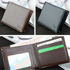 Men Leather Business Wallet Pocket Card Clutch Bifold Slim Purse Black/Brown Hot