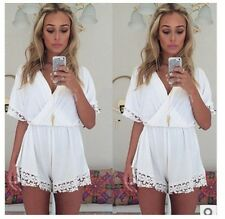 Overall Kleid S/M/L Jumpsuit Short Lace Romper Sommer