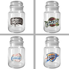 Choose Your NBA Team 31oz Glass Candy Jar Container with Lid by Great American