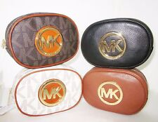 NWT MICHAEL KORS Fulton Leather Cosmetic Case MakeUp Bag Purse Authentic!