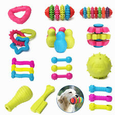 New Durable Rubber Pet Dog Puppy Dental Teething Healthy Gum Chew Play Train Toy