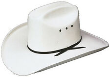 Kids Cattleman Straw Hat All White Cowboy Hat
