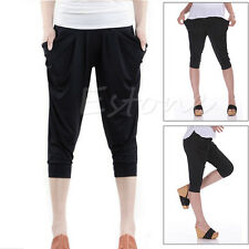 New Stylish Women Lady Stretch Colorful Drape Harem Pants Loose Hip-Hop Trousers