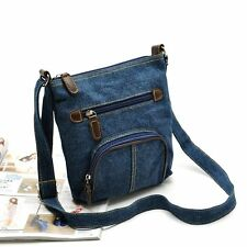 Women Denim Jean Handbag Casual One Shoulder Tote Satchels Vintage Crossbody Bag