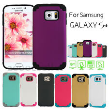 For Samsung Galaxy S6 Hybrid Rugged Shockproof Heavy Duty Rubber Hard Case Cover