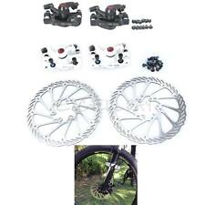 2Colors MTB Bicycle Mechanical Disc Brake Set Calipers with G3 Rotors 160mm E0Xc