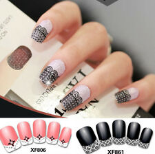 3D Transfer Lace Pattern Nail Art Stickers Manicure Nail Polish Decals Tips Deco