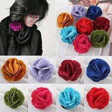 Women Rose Flower Hair Band Rope Elastic Ponytail Holder Scrunchie Hair Ring B13