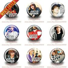 Novelty 18-90PCS Justin Bieber Buttons pins badges 30mm Diameter Brooch Badges