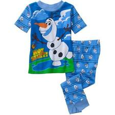Disney Frozen OLAF Pajamas PJ's Sleepwear Set for Toddler Boys BLUE 3T 4T-New