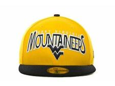 NWT West Virginia University Mountaineers 59Fifty New Era Fitted Hat Cap *H8
