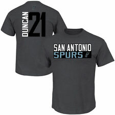 Tim Duncan San Antonio Spurs Vertical Name & Number T-Shirt - Gray - NBA