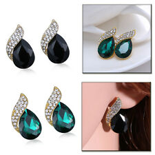 New Fashion Shimmer For Women Elegant Crystal Rhinestone Ear Stud Lady Earrings