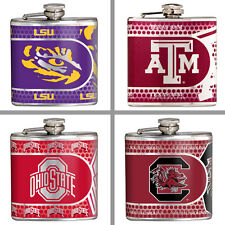 Choose Your NCAA Team 6 oz. Stainless Steel Hi-Def Metallic Graphics Hip Flask