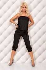 Sexy Womens Casual Fashion Tube Top Capri Jumpsuit Romper 5 Colors FREE SHIPPING