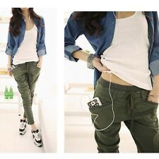 Women Fashion Casual Loose Baggy Harem Small Slim Feet Pant Sweatpants Trousers