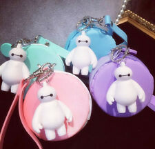 mini candy color silicone macaron coin bag big hero6 key chain nice girl gift