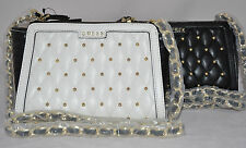 $90 GUESS Luxe Top Zip Studded Cross Body Messanger Bag Purse Classic Sac New