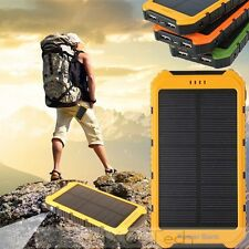 20000mAh SOLAR Panel 2A1A USB Battery Power Bank External Portable Phone Charger