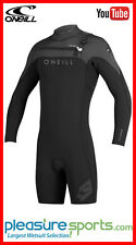 O'Neill Hyperfreak Long Sleeve Springsuit Mens Shorty Wetsuit 2mm Chest Zip