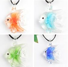 hot sale!! handmade   art glass beaded pendant necklace fish p869