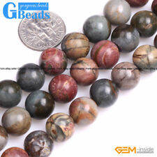 "Natural Stone Picasso Jasper Round Beads Free Shipping 15"" 4mm 6mm 8mm 10mm 12mm"