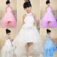 Kids Girls Flower Birthday Bridesmaid Party Prom/Wedding Christening Dress 3-9Y