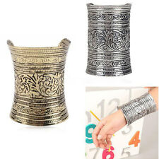 New Arrival 2015 Antique Charm Long Wide Cuff Curved Unisex Bracelet Bangle