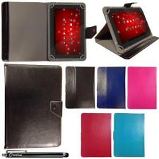 """Universal Multi Angle Wallet Case Cover + Stylus Pen for 10.1"""" inch Tablet PC"""
