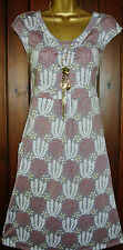 Ladies Boden Tunic Tea Dress Mauve Vintage style Cotton Mix Summer size 8-18