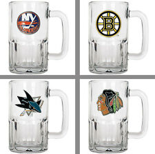 Choose Your NHL Team 20oz Glass Root Beer Style Tankard Mug by Great American