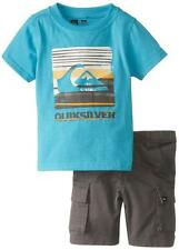 Quiksilver Toddler Boys S/S Baby Cyan Top 2pc Short Set Size 2T 3T 4T $49.50