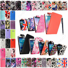 For Samsung Galaxy Various Models Stylish PU Leather Flip Case Cover With Stylus