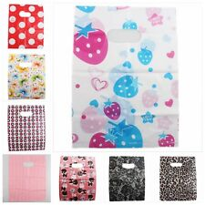 60/300pcs Lovely Colorful Prints Shopping Plastic Gift Carrier Bag Fit Package Q