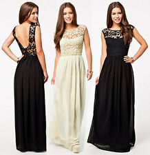 Formal Womens Sexy Backless Prom Bridesmaid Wedding Maxi Evening Party Dresses