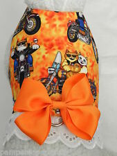 DOG CAT FERRET Harness~BORN TO RIDE Harley Flame Rocker Motorcycle Bow Lace Trim