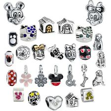 Brand Fashion Cartoon Style Silver Charm Cute Bead Fit European 925 Bracelet Diy