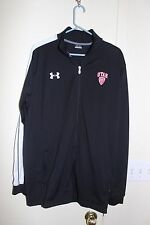"""UNDER ARMOUR Men's Black and White """"Utah PAC '12"""" Athletic Sports Jacket LG"""