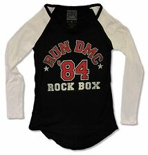 "RUN DMC ""ROCK BOX"" BLACK RAGLAN NEW OFFICIAL JUNIORS"
