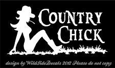 Country Chick Decal Sexy Mudflap Girl vinyl car truck window sticker