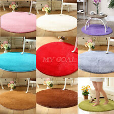 Fluffy Round Foam Shaggy Rug Anti Slip Bedroom Mat Home Floor Carpet Soft Plush