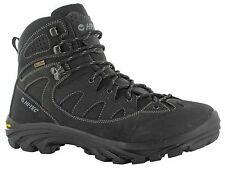 Mens Hi-tec Maipo Black Leather Waterproof Trail Performance Hiking Boots 7-13