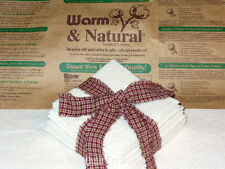 9 inch Warm and Natural Quilt Batting Squares for Rag Quilting