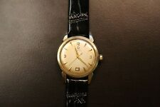 Omega Bumper 353 Men's VINTAGE 14K Gold Filled Wristwatch Authentic Watch