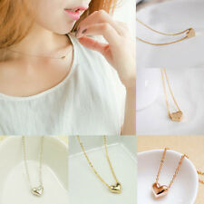 Korean Charms Gold Plated Heart Bib Statement Chain Pendant Necklace Jewelry