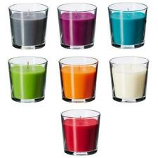 IKEA Scented Candle SINNLIG in glass 7 Colors and Scent notes 3in high