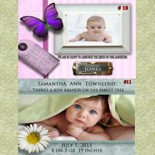 Baby Birth Announcement Cards w/Env & Personalized CDs & DVDs NOT a LABEL Custom