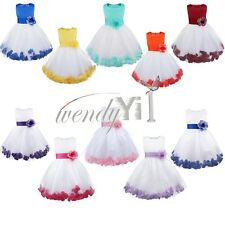 Petals Baby Princess Bridesmaid Flower Girl Dress Wedding Formal Party Christmas